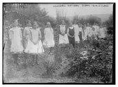 Lilleshall National School, Girls' Class Stock Photos