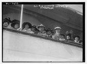 Col. Roosevelt on S.S. VANDYCK - departure 10/4/13 Stock Photos