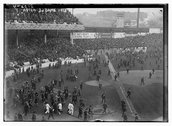 [World Series 1913, after 3rd game, Polo Grounds, NY (baseball)] Stock Photos
