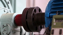 Heavy industry - testing motors in laboratory Stock Footage