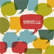 bubbles talk design, vector illustration eps10 graphic - stock illustration