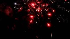 Fireworks, new year`s eve, magnificent various colors, video Arkistovideo