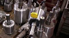 Heavy industry - rotor balancing Stock Footage