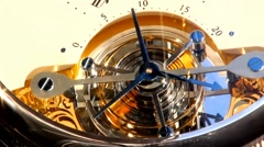 Promotional clock on the wall of the building-time lapse 5-13 - stock footage