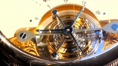 Promotional clock on the wall of the building-time lapse - stock footage