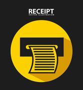 Receipt print design, vector illustration eps10 graphic Stock Illustration