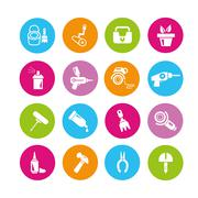Tools icons Stock Illustration