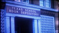 1537 - Texas School Book Depository in Dallas, Texas - vintage film home movie Stock Footage