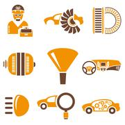 Car and auto icons Stock Illustration