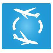 plane transfer - stock illustration