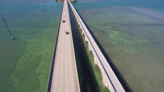 7 mile bridge and rest stop 4k Stock Footage
