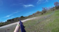 Point of View Shotgun Shooting Misses Stock Footage