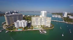 Belle isle miami beach 4k aerial drone video Stock Footage