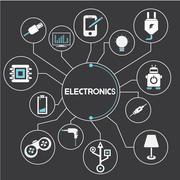 Stock Illustration of electronics