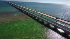 Florida keys 7 mile bridge 4k aerial drone video Stock Footage