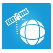satellite icons - stock illustration