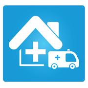nursing home - stock illustration
