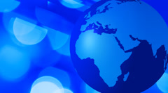 Animated world globe futuristic background - stock footage