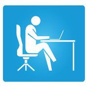 work hard - stock illustration