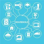 Household network Stock Illustration