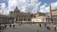 Rome Italy Vatican St Peters Basilica child running 4K 022 Stock Footage