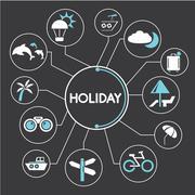 holiday - stock illustration