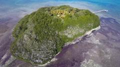 Florida keys secluded island 4k Stock Footage