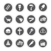 Stock Illustration of construction icons