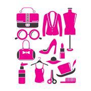 fashion icons - stock illustration