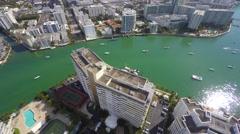 Miami beach building flyover 4k Stock Footage