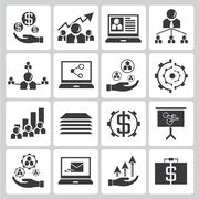 Investment and financial icons Stock Illustration