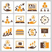 Financial icon and investment icons Stock Illustration