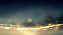 Glittering stars on bokeh and light streak line video background Stock Footage