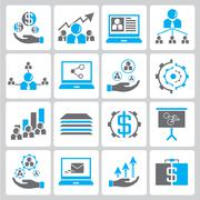 office and business icons - stock illustration