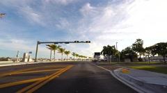 Truman Avenue Key West drive pov dusk - stock footage