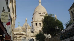 Stock Video Footage of Sacre Coeur Sacred Heart Church Montmartre Paris France 4K Stock Video Footage