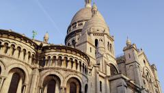 Stock Video Footage of Sacre Coeur Sacred Heart Church Montmartre, Paris, France 4K Stock Video Footage