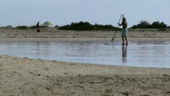 Algarve Fuseta Ria Formosa Kayak Paddle  D Stock Footage