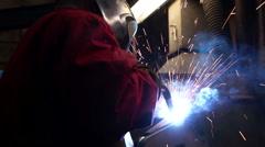 Heavy industry - welding Stock Footage