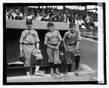 [Three baseball players (boys) wearing Cleveland uniforms] Stock Photos