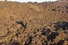 volcanic stones in national park timanfaya - stock photo