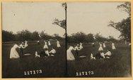 Playing baseball at Madison, New Jersey Stock Photos