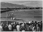 Baseball game, Manzanar Relocation Center, Calif. Stock Photos