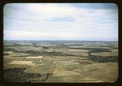 Potato farms in Aroostook County, Me. Stock Photos