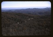 View in the mountains along Skyline Drive in Virginia Stock Photos