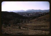 A mountain farm along the Skyline Drive in Virginia Stock Photos