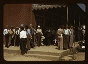 Farmers and townspeople in center of town on Court Day, Compton [i.e Stock Photos