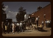 Farmers and townspeople in center of town on Court day, Campton, Ky. Stock Photos