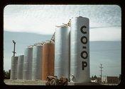 Grain elevators, Caldwell, Idaho Stock Photos