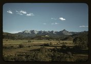 Farmland in the vicinity of Mt. Sneffels, Ouray County, Colorado Stock Photos